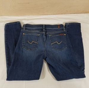 7 For All Mankind Cropped Gwenevere Blue Jeans 26